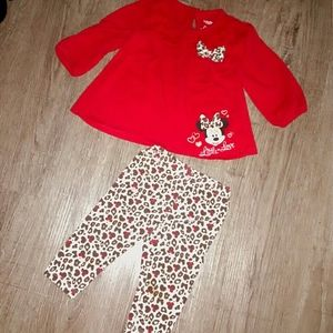 Minnie Mouse Little Love cheetah print baby outfit